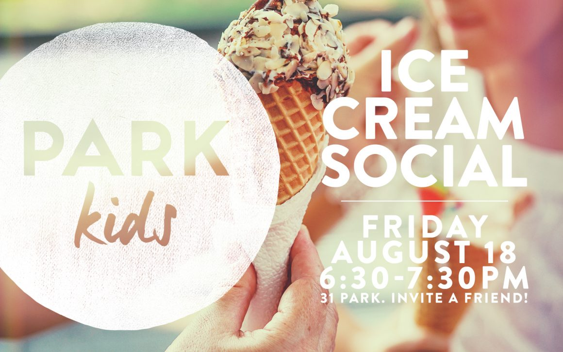 Kids, ice cream, and socializing…sounds good!