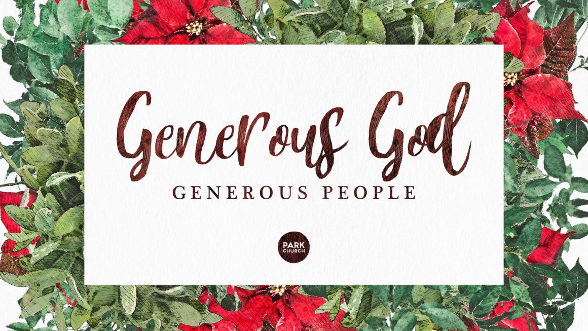Generous God, Generous People