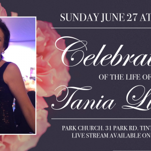 Celebration of the Life of Tania Lisitski